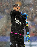 Pictured: Ron-Robert Zieler of Leicester City Saturday 27 August 2016<br /> Re: Swansea City FC v Leicester City FC Premier League game at the King Power Stadium, Leicester, England, UK