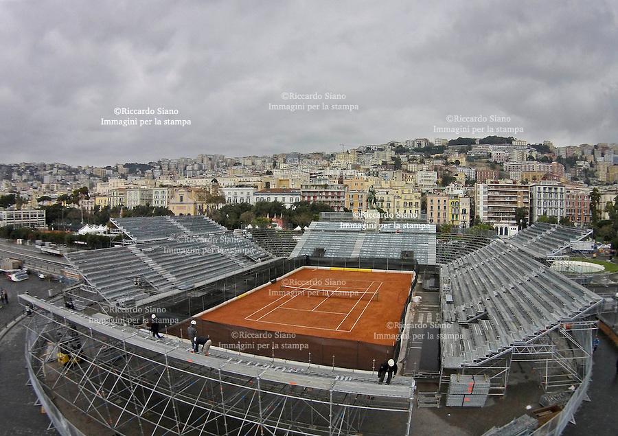 - NAPOLI 24 MAR  2014 -  arena del tennis cantiere