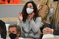 11th October 2020, Roland Garros, Paris, France; French Open tennis, mens singles final 2020;  Xisca Perello wife of Rafael Nadal Esp watches play