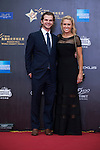 Natalie Gulbis and her husband Joshua on the Red Carpet event at the World Celebrity Pro-Am 2016 Mission Hills China Golf Tournament on 20 October 2016, in Haikou, China. Photo by Marcio Machado / Power Sport Images