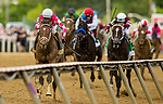 MAY 15, 2021: Rombauer and Flavien Prat pull away from Midnight Bourbon to win the Preakness Stakes at Pimlico Racecourse in Baltimore, Maryland on May 15, 2021. EversEclipse Sportswire/CSM