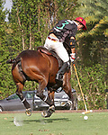 WELLINGTON, FL - APRIL 15:  Agustin Oregon of Palm Beach Illustrated controls the ball in the $100,000 World Cup Final, at the Grand Champions Polo Club, on April 15, 2017 in Wellington, Florida. (Photo by Liz Lamont/Eclipse Sportswire/Getty Images)