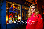 Mary J Leen, a teacher from Colaiste Gleann Lí, who along with students dressed up a vacant shop window for Christmas.
