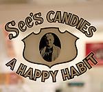Sign, See's Candy, Embarcedero, San Francisco, California