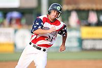 July 3, 2007: Mike Massaro of the Kane County Cougars at Elfstrom Stadium in Geneva, IL  Photo by:  Chris Proctor/Four Seam Images