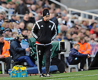 Francesco Guidolin manager of Swansea City during the Barclays Premier League match between Newcastle United and Swansea City played at St. James' Park, Newcastle upon Tyne, on the 16th April 2016