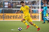 San Jose, CA - Saturday August 03, 2019: Alex Crognale #21 in a Major League Soccer (MLS) match between the San Jose Earthquakes and the Columbus Crew at Avaya Stadium. .