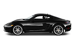 Car driver side profile view of a 2019 Porsche 718 Cayman Base 2 Door Coupe