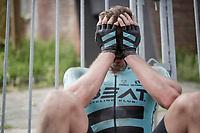 Yves Coolen (BEL/BEAT) exhausted post-finish<br /> <br /> Dwars door het Hageland 2019 (1.1)<br /> 1 day race from Aarschot to Diest (BEL/204km)<br /> <br /> ©kramon