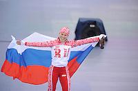 OLYMPICS: SOCHI: Adler Arena, 09-02-2014, 3000 m Ladies, Olga Graf (RUS) bronze medalist, ©photo Martin de Jong