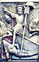 Visual Arts:  The Resurrection--an alabaster panel. English, 15th Century ?  British Museum.
