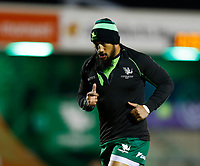 20th February 2021; Galway Sportsgrounds, Galway, Connacht, Ireland; Guinness Pro 14 Rugby, Connacht versus Cardiff Blues; Connacht centre Bundee Aki during the warm up