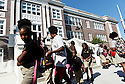 Children leave Arise Academy, New Orleans, Aug. 27, 2015.