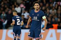 28th September 2021, Parc des Princes, Paris, France: Champions league football, Paris-Saint-Germain versus Manchester City:  Marquinhos (PSG)