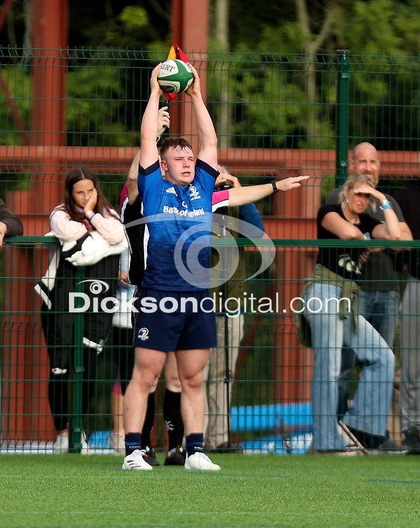 Saturday 4th September 20218 <br /> <br /> Flyn Pyper during U18 Schools inter-pro between Ulster Rugby and Leinster at Newforge Country Club, Belfast, Northern Ireland. Photo by John Dickson/Dicksondigital