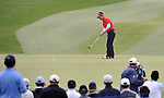 SUZHOU, CHINA - APRIL 17:  Y.E. Yang of Korea putts on the 15th green during the Round Three of the Volvo China Open on April 17, 2010 in Suzhou, China. Photo by Victor Fraile / The Power of Sport Images