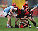 AX of Ennis  in action against X of Garryowen during their U-18 Munster Club Final at Thomond Park. Photograph by John Kelly.