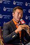 Tenniel Chu Vice Chairman of Mission Hills Group attends Korean Media during the Hyundai China Ladies Open 2014 on December 12 2014, in Shenzhen, China. Photo by Aitor Alcalde / Power Sport Images