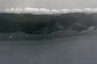 The ice covered Baltic Sea.