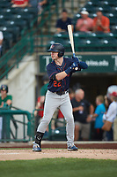 Grant Witherspoon (22) of the Bowling Green Hot Rods at bat against the Fort Wayne TinCaps at Parkview Field on August 20, 2019 in Fort Wayne, Indiana. The Hot Rods defeated the TinCaps 6-5. (Brian Westerholt/Four Seam Images)
