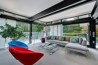 BNPS.co.uk (01202) 558833. <br /> Pic: Savills/BNPS<br /> <br /> Pictured: Living room. <br /> <br /> The UK home of Hollywood actor Antonio Banderas is on the market for £2.95m.<br /> <br /> The Mask of Zorro star moved from LA to Cobham in Surrey in 2015 with girlfriend Nicole Kimpel after splitting from his wife of 20 years Melanie Griffiths.<br /> <br /> They are now selling their home to spend more time in Banderas' native Malaga, where he has bought and built a theatre.