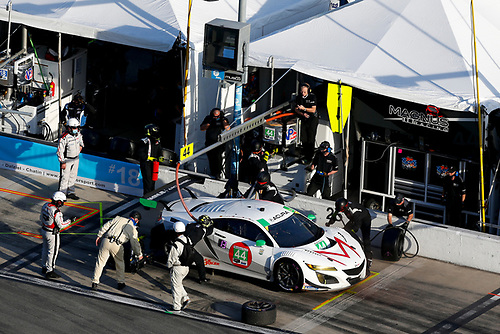#44 Magnus with Archangel Acura NSX GT3, GTD: Pit Stop, Mario Farnbacher, Spencer Pumpelly, John Potter, Andy Lally