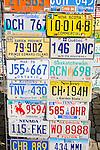 Amerikanische Autokennzeichen, American number plates, gesehen auf dem  Jahrmarkt von Eschen, Liechtenstein