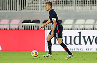FORT LAUDERDALE, FL - DECEMBER 09: Aaron Long #3 of the United States moves with the ball during a game between El Salvador and USMNT at Inter Miami CF Stadium on December 09, 2020 in Fort Lauderdale, Florida.