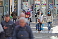 Pictured: Two women wearing masks in the city centre of Swansea, south Wales, UK. Friday 20 March 2020<br /> Re: Covid-19 Coronavirus pandemic, UK.