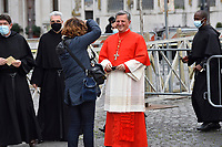 Cardinal Mario Grech.Pope Francis leads a consistory for the creation of five new cardinals  at St Peter's basilica in Vatican.28 november 2020