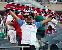 CHICAGO, IL - JULY 7: USA fans during a game between Mexico and USMNT at Soldiers Field on July 7, 2019 in Chicago, Illinois.