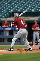 Brian Dempsey (6) of the Boston College Eagles at bat against the North Carolina State Wolfpack in Game Two of the 2017 ACC Baseball Championship at Louisville Slugger Field on May 23, 2017 in Louisville, Kentucky. The Wolfpack defeated the Eagles 6-1. (Brian Westerholt/Four Seam Images)