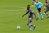 ST PAUL, MN - NOVEMBER 4: Kei Kamara #16 of Minnesota United FC chases the ball during a game between Chicago Fire and Minnesota United FC at Allianz Field on November 4, 2020 in St Paul, Minnesota.