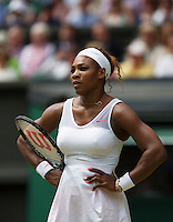 01-07-13, England, London,  AELTC, Wimbledon, Tennis, Wimbledon 2013, Day seven, Serina Williams (USA)<br /> <br /> <br /> <br /> Photo: Henk Koster