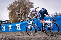 CX world champion Mathieu Van der Poel (NED/Alpecin-Fenix)<br /> <br /> 2020 Scheldecross Antwerp (BEL)<br /> <br /> ©kramon
