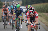 Tim Wellens (BEL/Lotto-Soudal) lays down his elbows on his handlebars to uppen the tempo in the breakaway<br /> <br /> 12th Eneco Tour 2016 (UCI World Tour)<br /> Stage 7: Bornem › Geraardsbergen (198km)