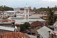 Stone Town, Zanzibar, Tanzania.  Rooftops and Minaret.