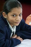 Dehradun, India.  Eighth-Grade Indian Girl.