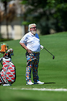 May 2nd 2021; The Woodlands, Texas, USA;  John Daly looks over his second shot on 5 during final round  of the 2021 Insperity Invitational at The Woodlands Country Club on May 2, 2021 in The Woodlands, Texas.