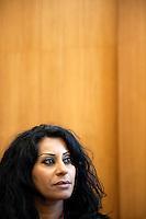 Switzerland. Geneva. World Health Organisation (WHO). Stop TB Partnership. Workshop with a group of national ambassadors against tuberculosis: Rania Ismail, Jordan, actress. 5.12.2011 © WHO /Didier Ruef