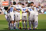 Getafe CF's players during La Liga match. August 29, 2021. (ALTERPHOTOS/Acero)