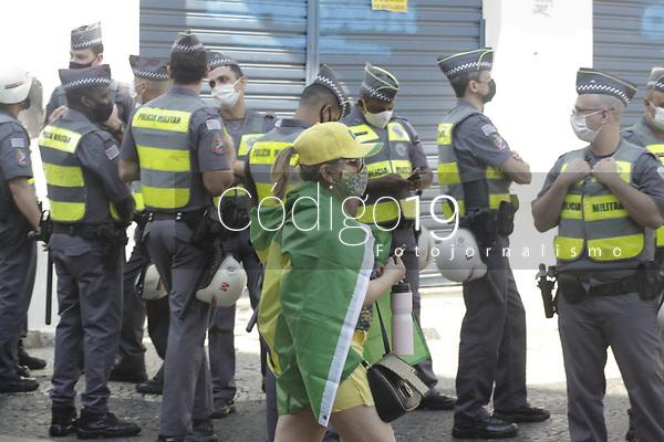 Campinas - SP, 07/09/2021 - Campinas (SP), 07/09/2021 - Manifestacoes 7 de Setembro - Manifestantes no centro da cidade de Campinas (SP), nesta terca-feira (7). As manifestacoes pro e contra o Governo Federal, estao sendo realizadas em pontos diferentes da regiao central. O grupo que nao apoia Jair Bolsonaro se reuniu no Largo do Para e os manifestantes pro Presidente no Largo do Rosario.. Foto: Denny Cesare/Codigo 19 (Foto: Denny Cesare/Codigo 19/Codigo 19)