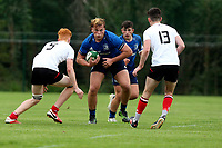 Saturday 5th September 2021<br /> <br /> Adam Deay during U18 Clubs inter-pro between Ulster Rugby and Leinster at Newforge Country Club, Belfast, Northern Ireland. Photo by John Dickson/Dicksondigital