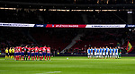 Players of CD Leganes and Atletico de Madrid line up prior to the La Liga 2017-18 match between Atletico de Madrid and CD Leganes at Wanda Metropolitano on February 28 2018 in Madrid, Spain. Photo by Diego Souto / Power Sport Images