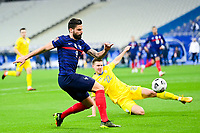 24th March 2021; Stade De France, Saint-Denis, Paris, France. FIFA World Cup 2022 qualification football; France versus Ukraine;  GIROUD OLIVIER (France) vs Mykola Matviyenko (Ukraine)