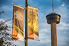 November 10, 2016; Shamrock Series signage in downtown San Antonio, Texas (Photo by Matt Cashore/University of Notre Dame)