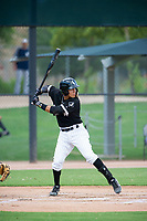 AZL White Sox shortstop Laz Rivera (36) at bat against the AZL Padres on July 31, 2017 at Camelback Ranch in Glendale, Arizona. AZL White Sox defeated the AZL Padres 2-1. (Zachary Lucy/Four Seam Images)