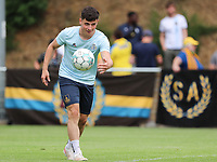 Dante Vanzeir (25) of Union with the ball before I a preseason friendly soccer game between Tempo Overijse and Royale Union Saint-Gilloise, Saturday 29th of June 2021 in Overijse, Belgium. Photo: SPORTPIX.BE   SEVIL OKTEM