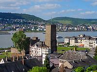 Brömserburg und Boosenburg, Rüdesheim, Hessen, Deutschland, Europa, UNESCO Weltkulturerbe<br /> castle Brömserburg and Boosenburg, Rüdesheim, Hesse, Germany, Europe