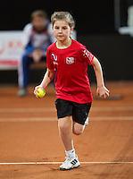 Februari 07, 2015, Apeldoorn, Omnisport, Fed Cup, Netherlands-Slovakia, Ballkid, ballgirl)<br /> Photo: Tennisimages/Henk Koster